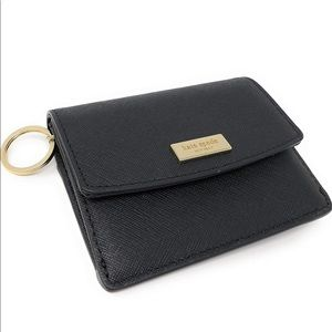 EUC Kate Spade Black Leather Petty Card Wallet
